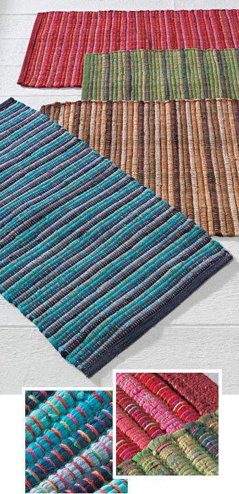 100 Cotton Udaipur Chindi Rag Rug 4 Colours 2 Sizes Boho Hippy In Home Furniture Diy Rugs Carpets Rugs Ebay Rag Rug Cotton Rug Rugs