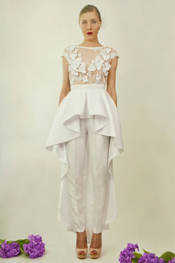 Giselle Two Piece Bridal Jumpsuit   Wedding ❤   Pinterest ...