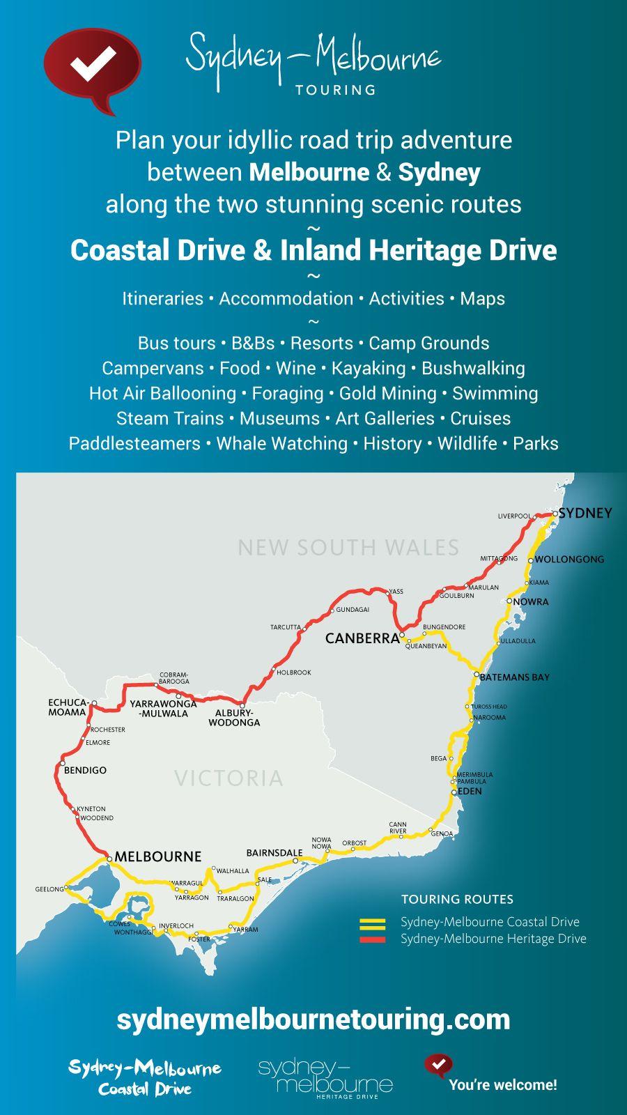 Inland Road Trip From Melbourne To Sydney Australian Road Trip Travel Destinations Australia Road Trip Adventure