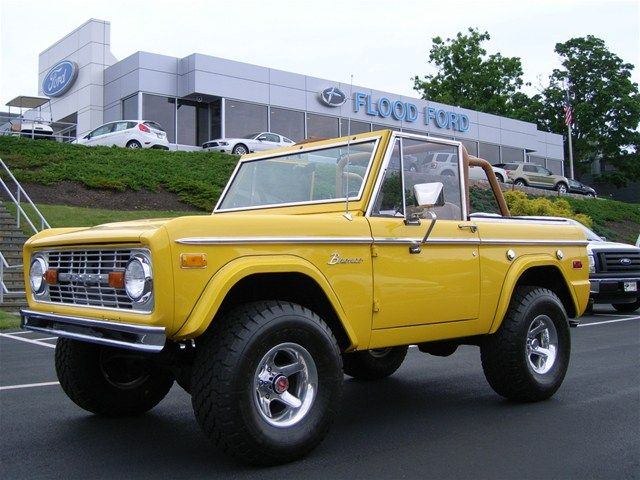 1970 Yellow Bronco Ford Bronco Classic Bronco Bronco