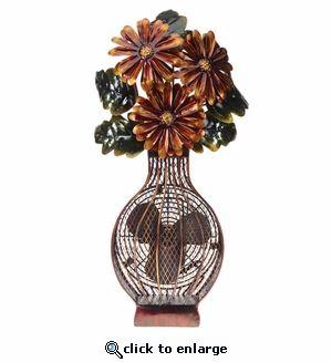 Decobreeze Figurine Fan Flower Bouquet Figurine Fan Flower Vases Fan Decoration