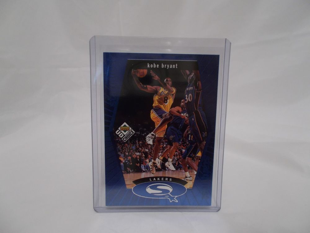 1998 upperdeck ud choice blue starquest kobe bryant card