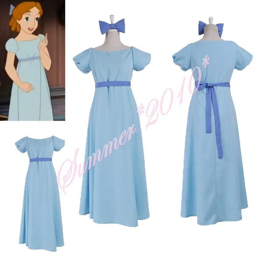 Peter Pan Wendy Rachael Women Party Long Fancy Dress Coplay Costume Any Size New