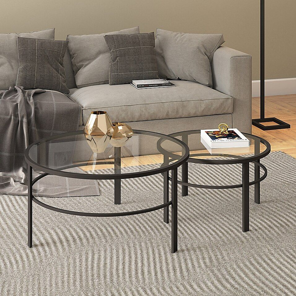 Hudson Canal Gaia 2 Piece Nesting Coffee Table Set Bed Bath Beyond Nesting Coffee Tables Coffee Table Round Coffee Table Sets [ 956 x 956 Pixel ]