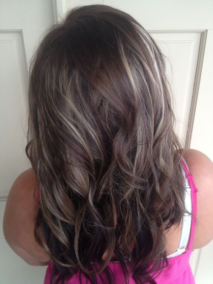 Brown Highlights For Gray Hair Hair And Beauty Pinterest Graue