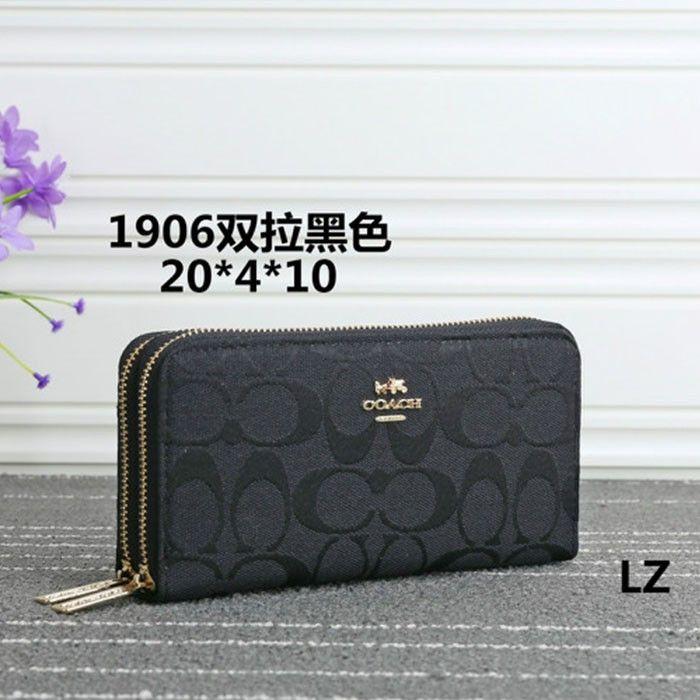 zipped logo wallet - Black Coach 5KT0CAfcus