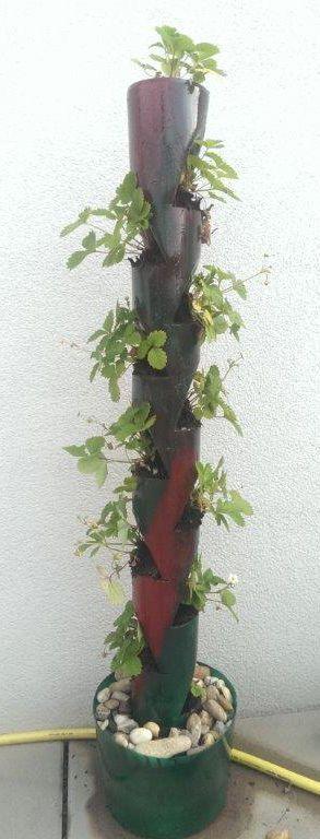 pvc rohr blumen-/erdbeerbeet, recycling, upcyling, selbermachen, Garten und erstellen