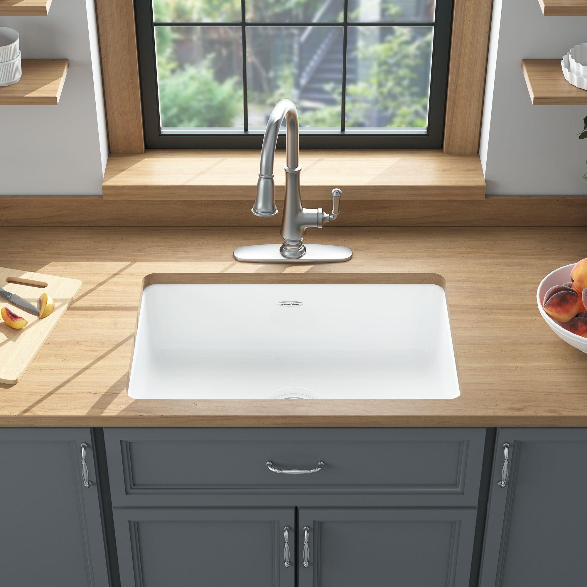 Delancey 30x19 Inch Cast Iron Kitchen Sink American Standard Cast Iron Kitchen Sinks Undermount Kitchen Sinks Sink