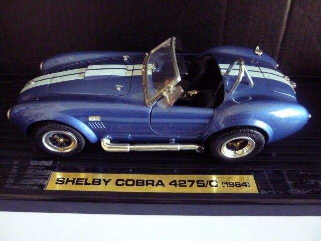 Road Tough 1964 Shelby Cobra 427s C 1 18 Scale Cast Blue Model Hot Rod Roadtough