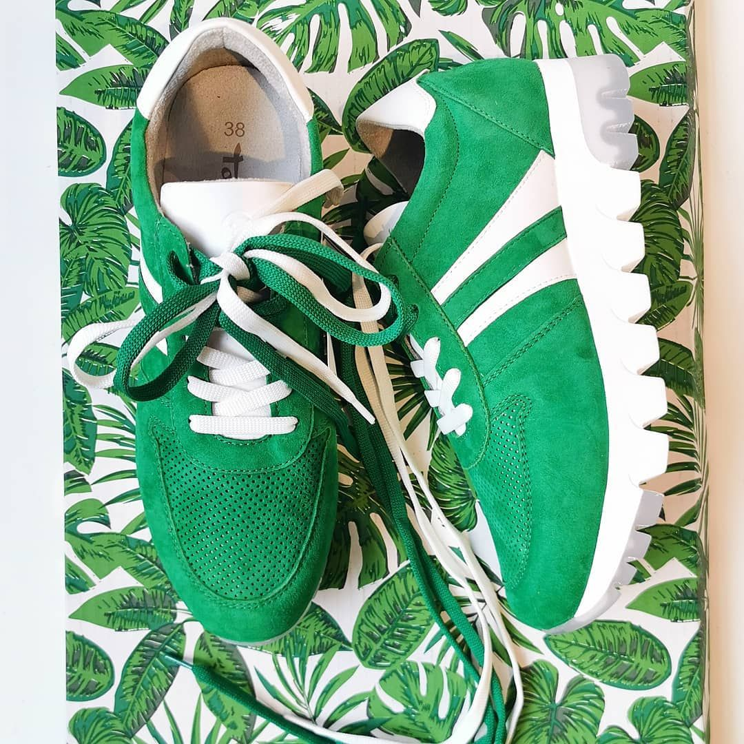 Tamaris Sneakersy Z Nowej Kolekcji Tamaris Sneakers Greenshoes New Newcollection Retro Oldschooltattoo Moda Tamaris Green Shoes Sneakers
