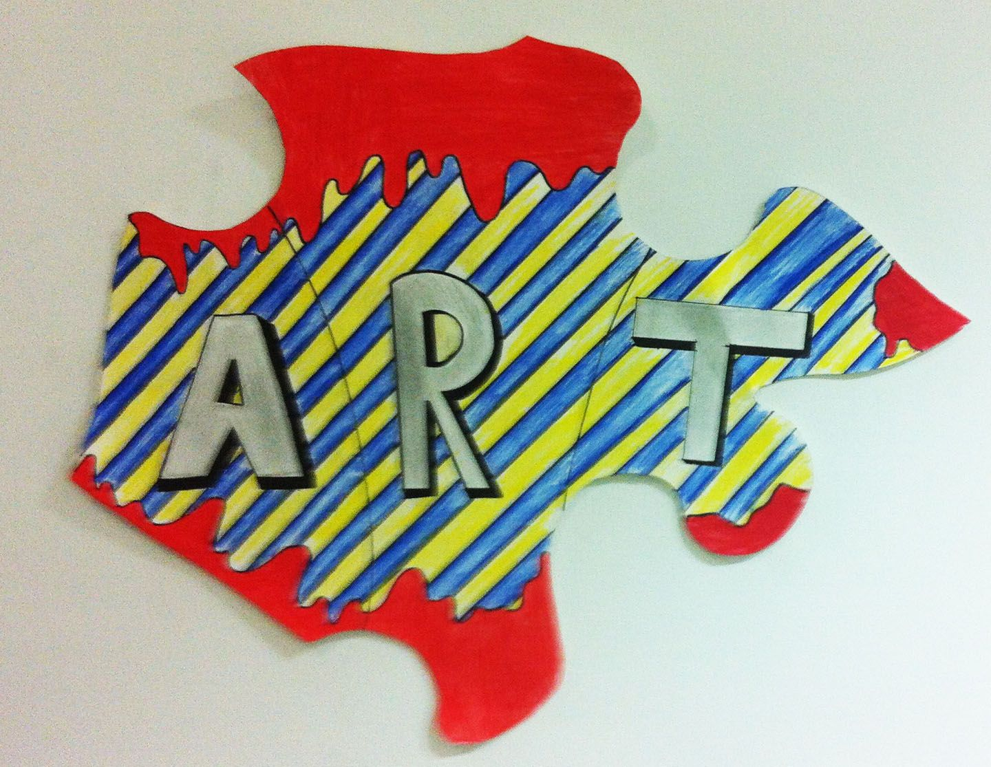 Students were to make one letter of the work A.R.T. on the
