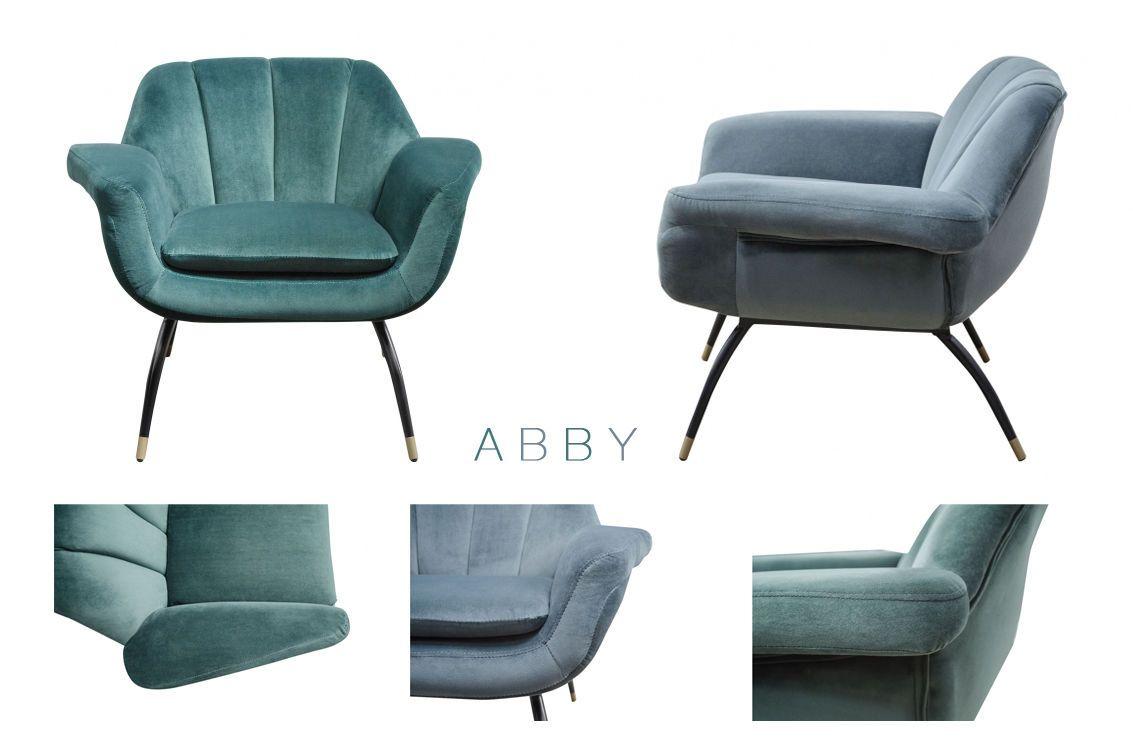 Abby Sessel Samt Cocktailsessel Grun Grau Blau Loungesessel Von