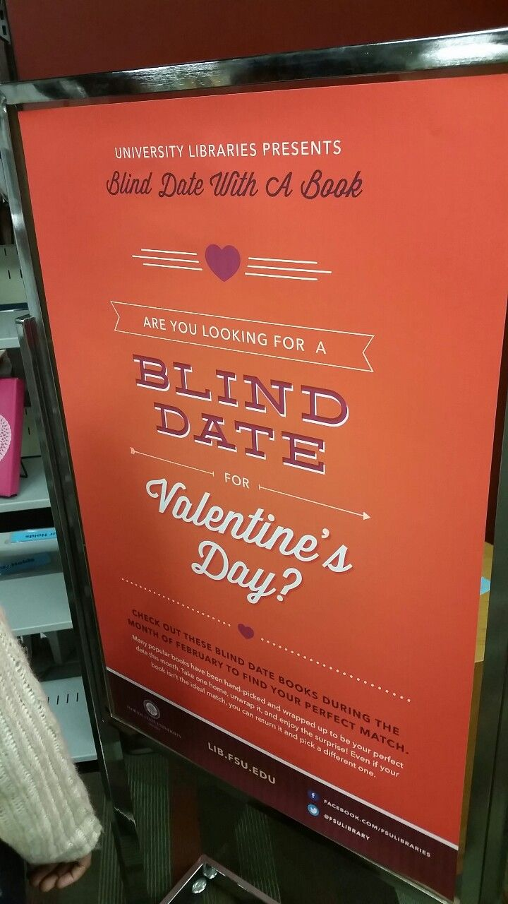 Blind date with a book | Signs & Sandwich Boards | Library