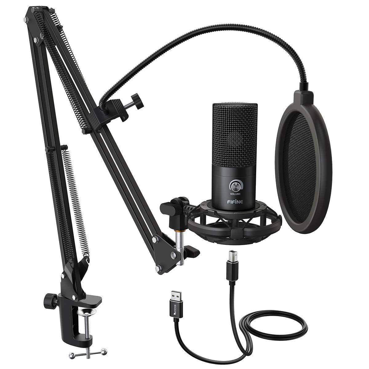 Fifine Studio Condenser Usb Microphone In 2020 Usb Microphone Microphone Microphones