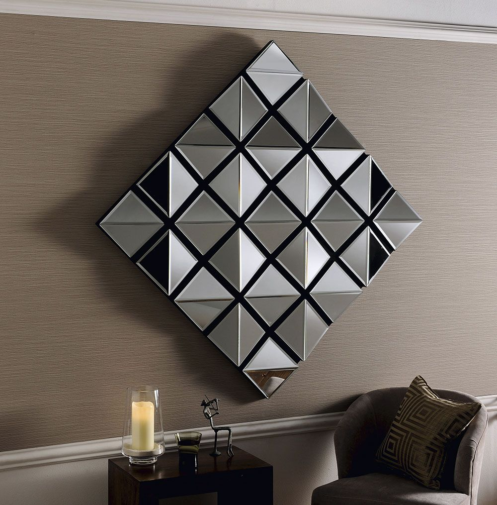 Chicago Art Deco Funky Mirror 102x102cm Soraya Interiors Uk Art Deco Mirror Mirror Wall Living Room Mirrors