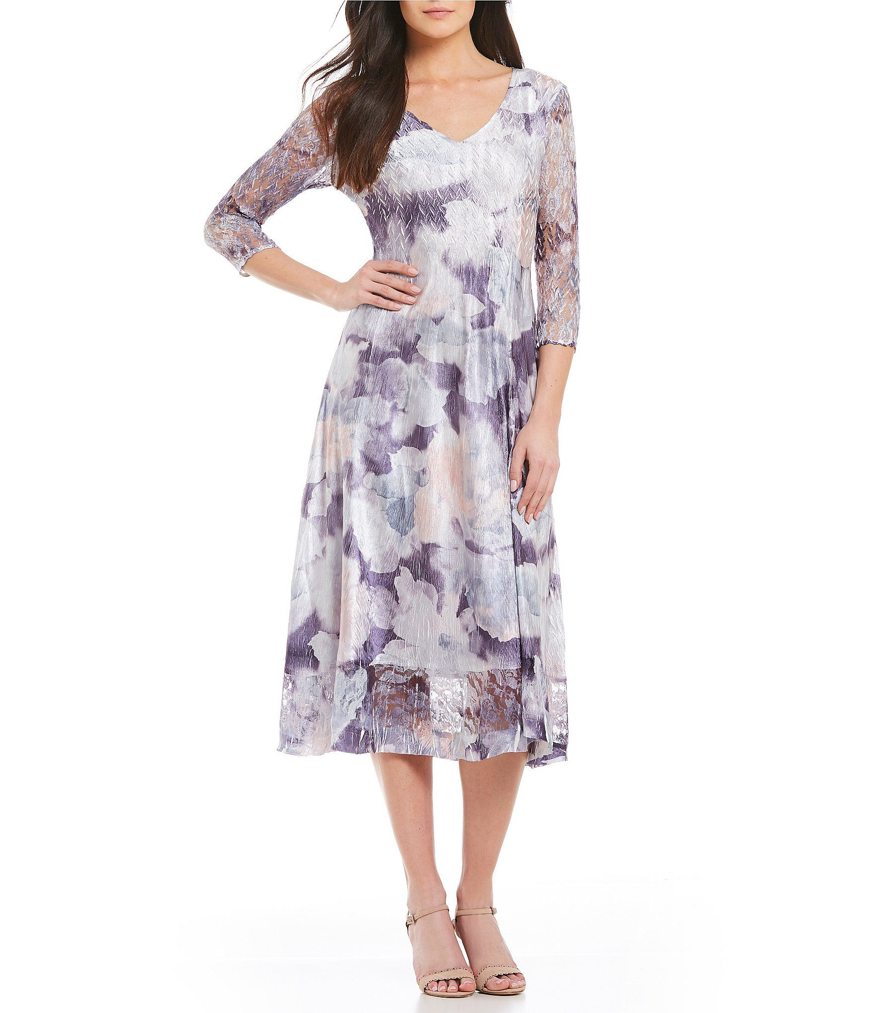 6199a974a7 Shop for Komarov V Neck Floral Print Midi Dress at Dillards.com. Visit  Dillards.com to find clothing