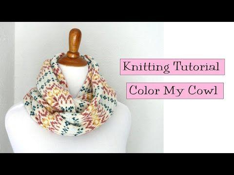 5c68a16c6 Color My Cowl Tutorial - v e r y p i n k . c o m - knitting patterns ...