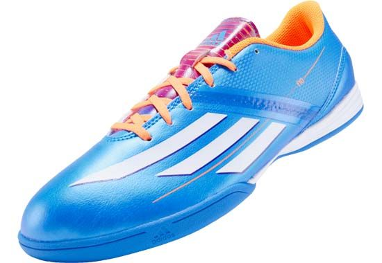 a945bc553 adidas F10 Indoor Soccer Shoes - Solar Blue with Solar Zest...Available at  SoccerPro Now!
