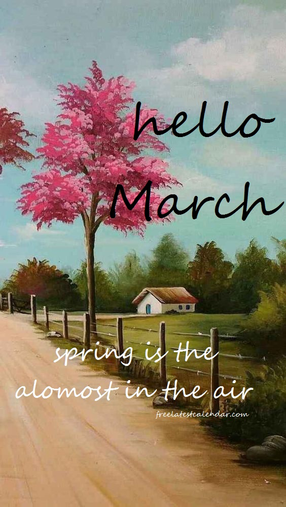 Hello March Floral Pictures Hello march images, March