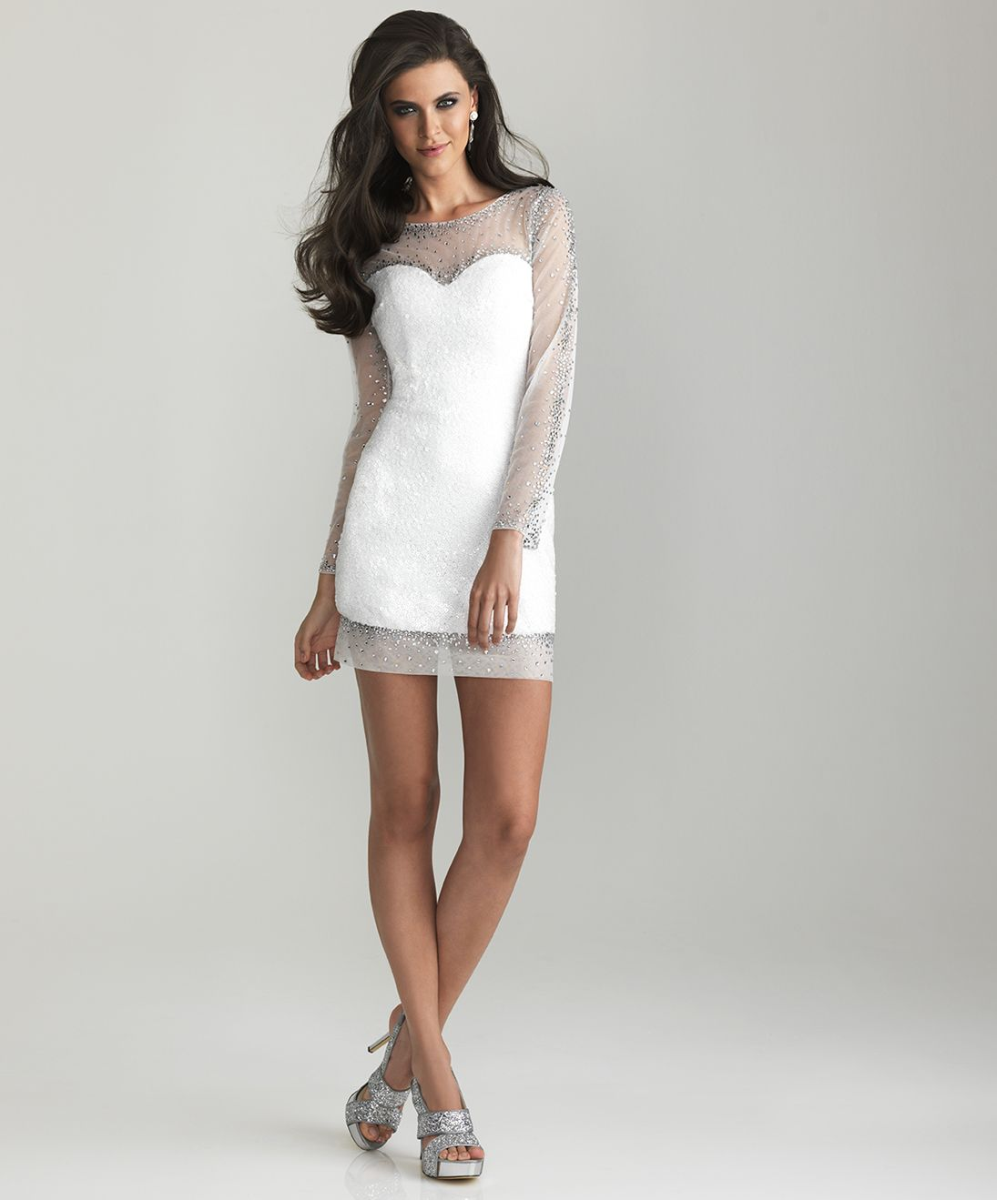 Buy Short white dresses with long sleeves pictures trends