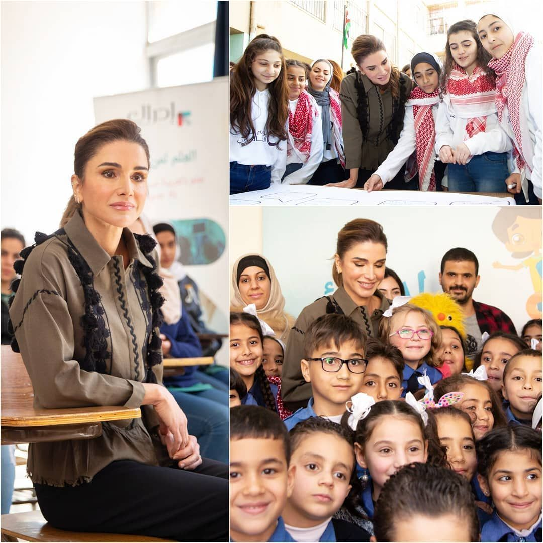 Queen Rama during the launch the math curricula for grades K-5 on Edraak platform for schoolchildren Amman, Jordan/ 6 March 2019… #ammanjordan Queen Rama during the launch the math curricula for grades K-5 on Edraak platform for schoolchildren Amman, Jordan/ 6 March 2019… #ammanjordan Queen Rama during the launch the math curricula for grades K-5 on Edraak platform for schoolchildren Amman, Jordan/ 6 March 2019… #ammanjordan Queen Rama during the launch the math curricula for grades K-5 on #ammanjordan