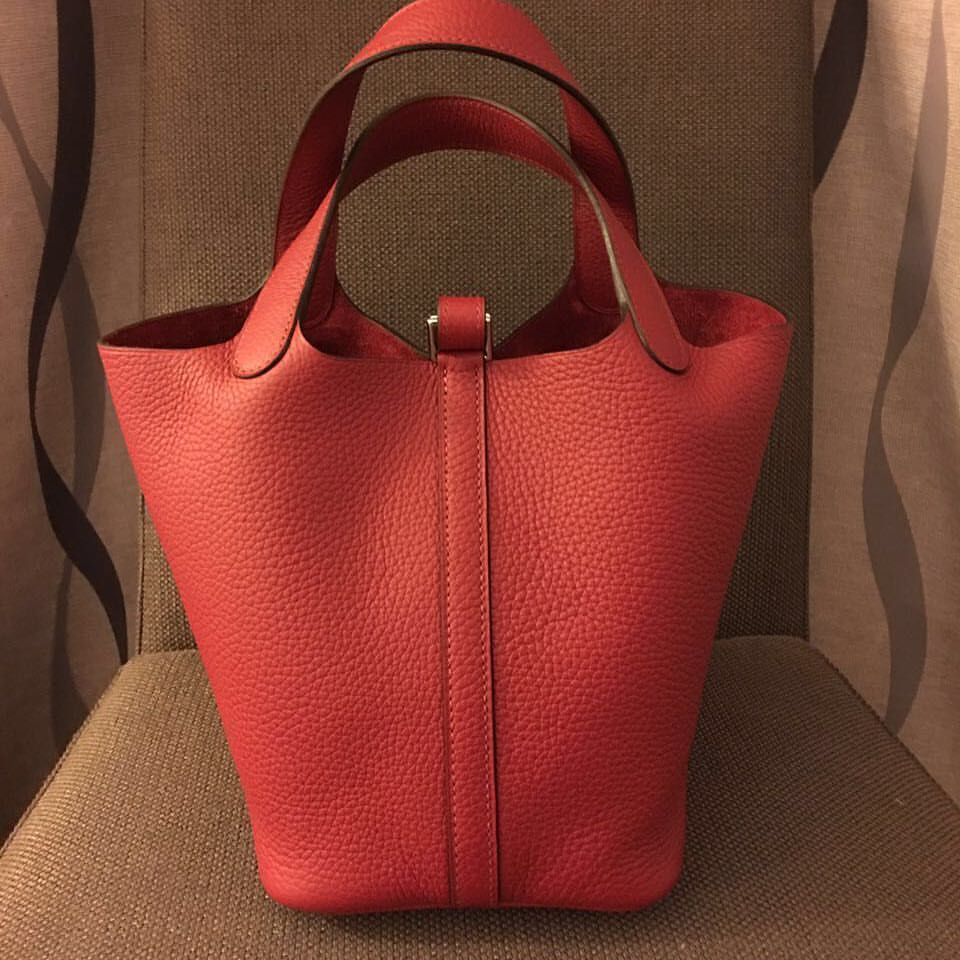 472983c5f56d Hermes Picotin 18 in Rouge Grenat