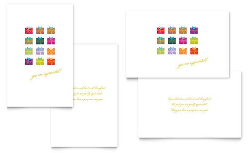 Christmas Presents Greeting Card Template By Stocklayouts Christmas Card Template Greeting Card Template Christian Greeting Cards