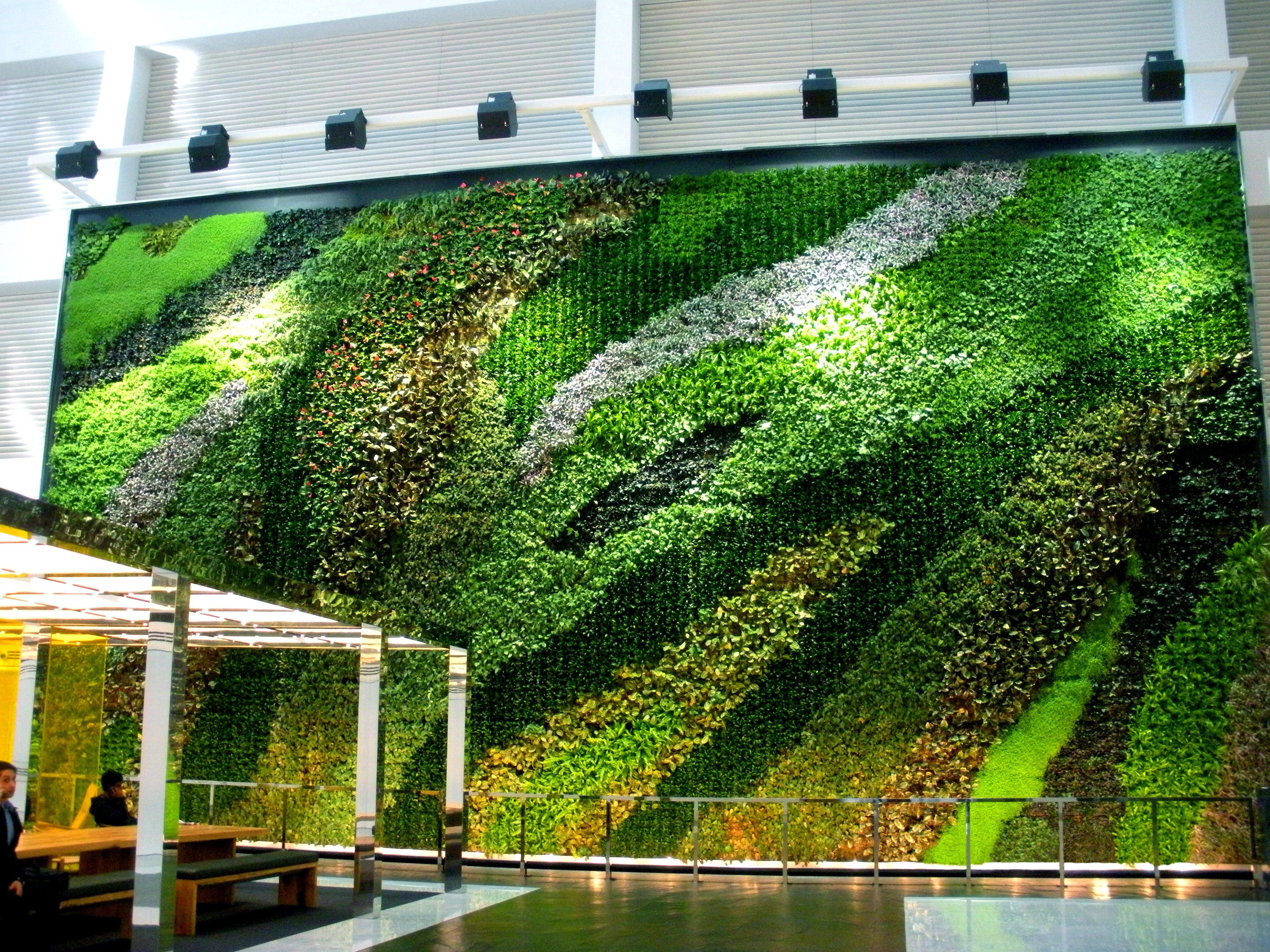 Plant Connection, Inc.   NY   23 Story Atrium Living Wall   Green Plants  For Green Buildings