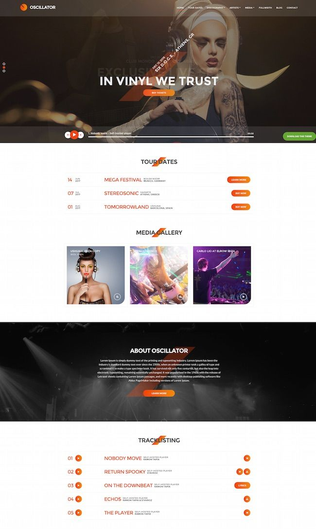 Oscillator WordPress music Theme | Wordpress | Pinterest | Wordpress ...