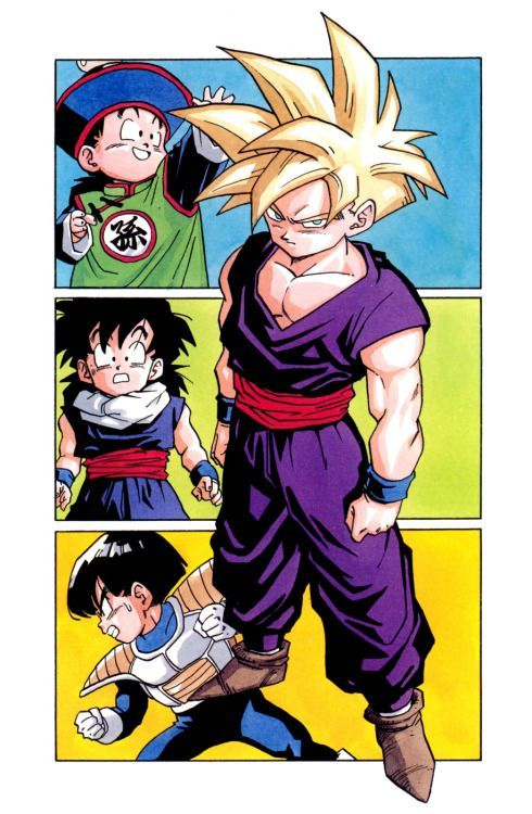 Teen gohan is cool but mystic gohan is just badass find this pin and more on akira toriyama art style