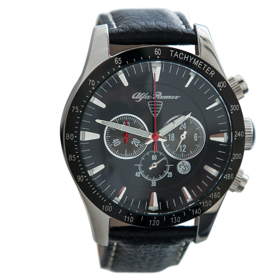 chronograph schwarz, armband schwarz - alfa romeo shop | watch me
