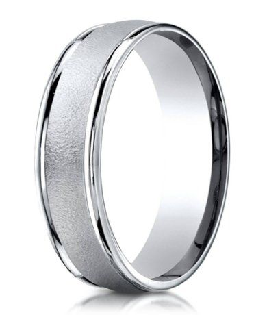 Designer 950 Platinum Wedding Ring For Men With Wired Finish 6mm Mens Wedding Rings Wedding Rings Unique White Gold Wedding Bands