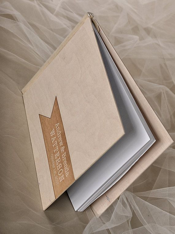 Custom Wood Wooden Wedding Guest Book Vintage by 4LOVEPolkaDots, $50.00