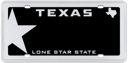 My Plates Texas >> Lone Star Black Official Texas License Plates Starting At 55