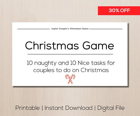 Printable christmas game sale naughty couples game stocking romantic game gift for boyfriend easter gift idea sexy negle Images