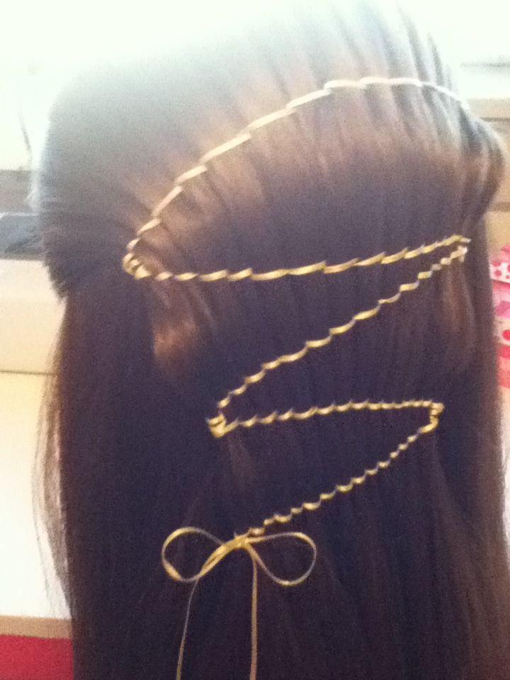 Ribbon Waterfall Braid Hoop Earrings Hair Styles Earrings