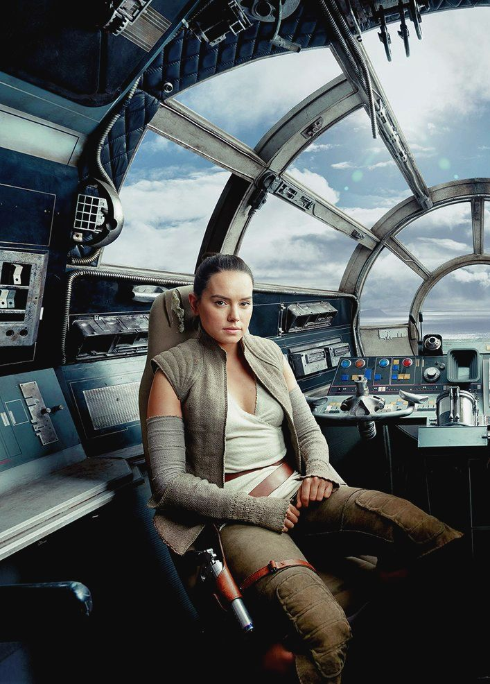 rey in the pilot s seat of the millennium falcon star. Black Bedroom Furniture Sets. Home Design Ideas