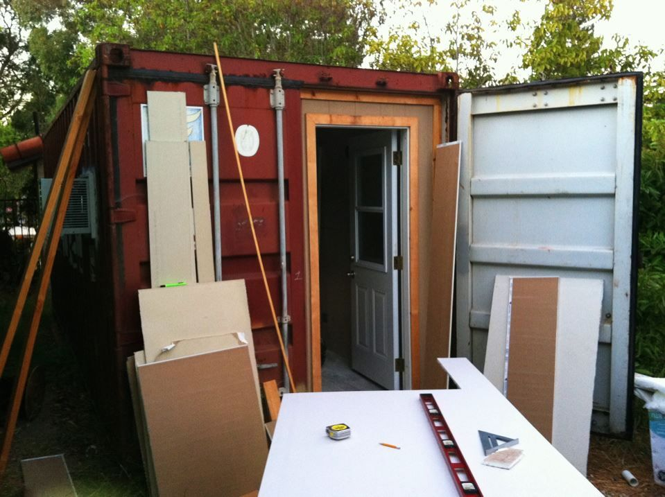 My Shipping Container Studio Build Lots Of Pictures Gearslutz Com Studio Build Shipping Container Building