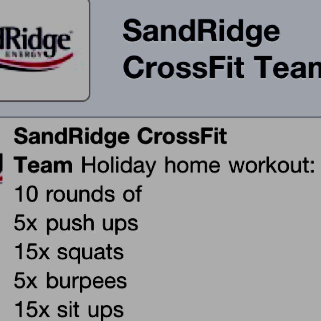 Crossfit WOD to do on vacation...or when you are stuck at home with a sick babe