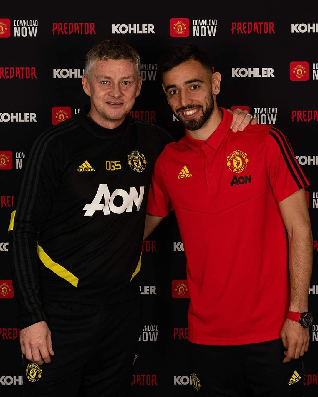 Bruno, meet Ole 😁 in 2020 Manchester united, Manchester