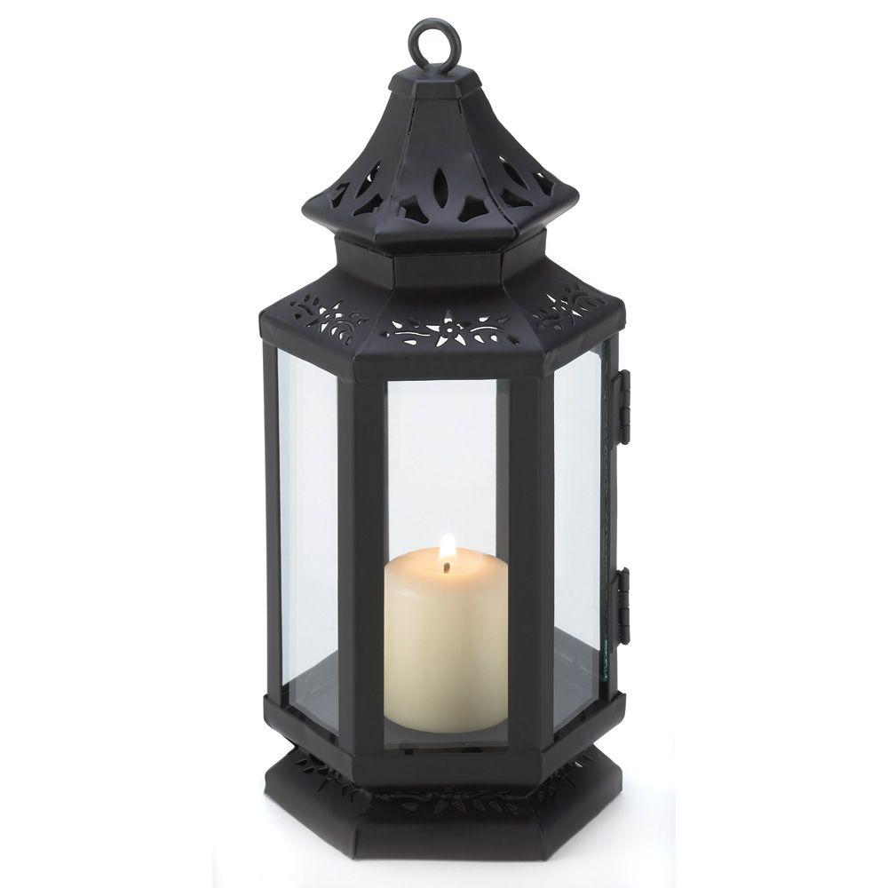 Black stagecoach lantern hanging candle lanterns candle
