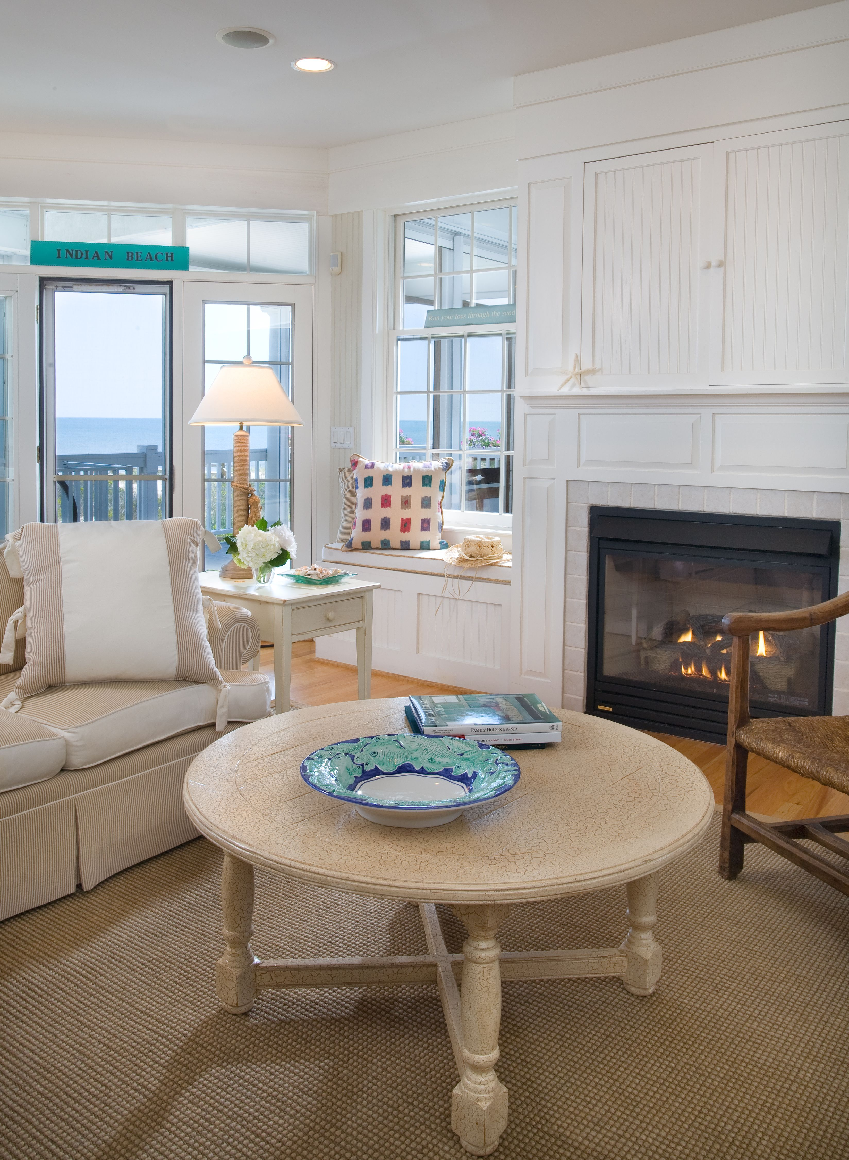 Living Room In Beach Front Home Designed By Kristin Peake Beach