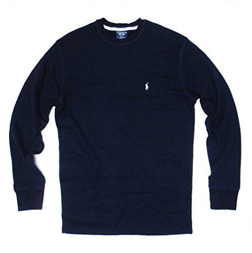 Polo Ralph Lauren Men\u0027s Long-sleeved T-shirt / Sleepwear / Thermal (Medium,  Navy Blue/White Pony): Brand:Polo Ralph cotton,exclusive of decoration.