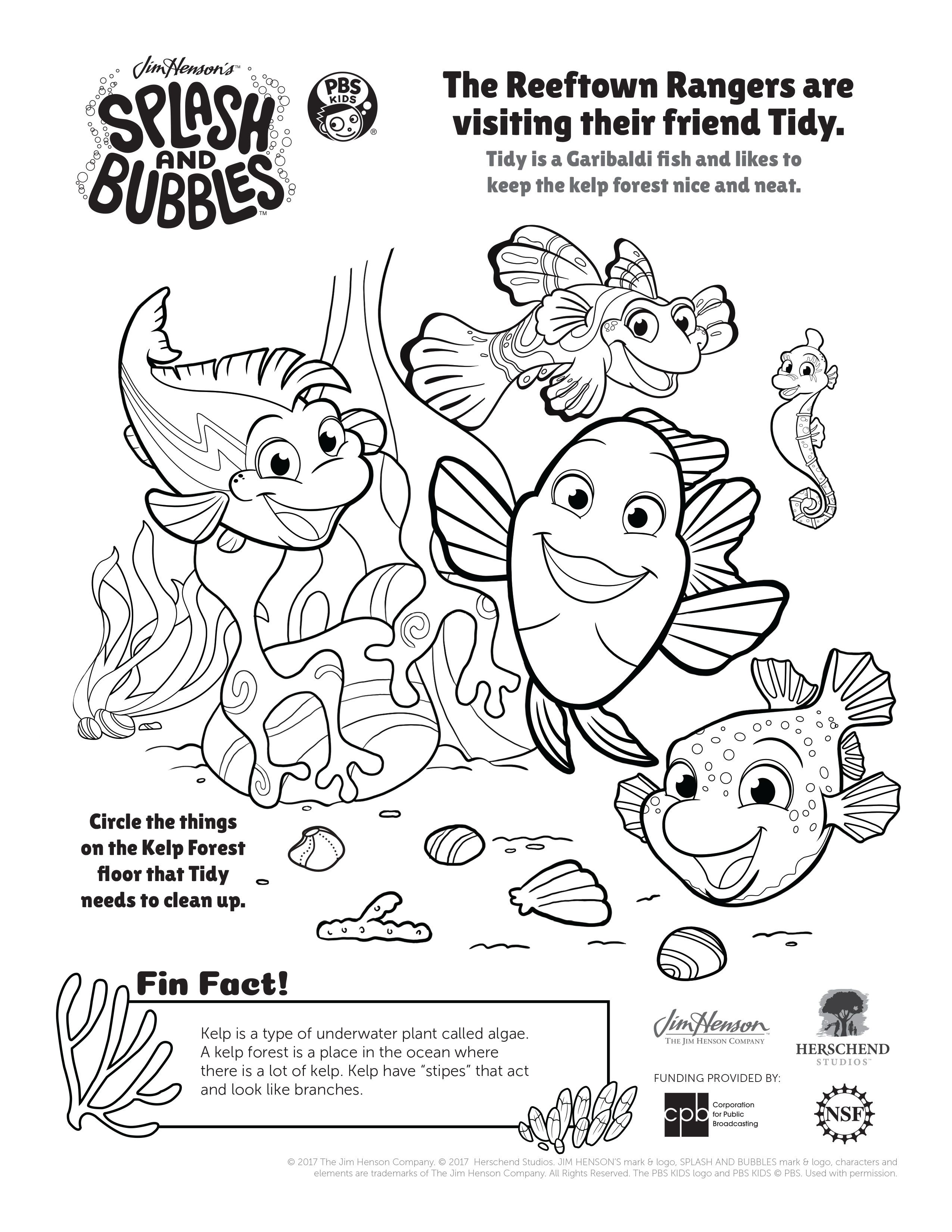underwater bubbles coloring pages - photo#1