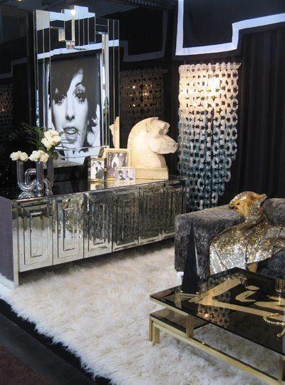 Hollywood Regency Style Silver U0026 White Tone On Tone Master Bedroom Via  Design Public