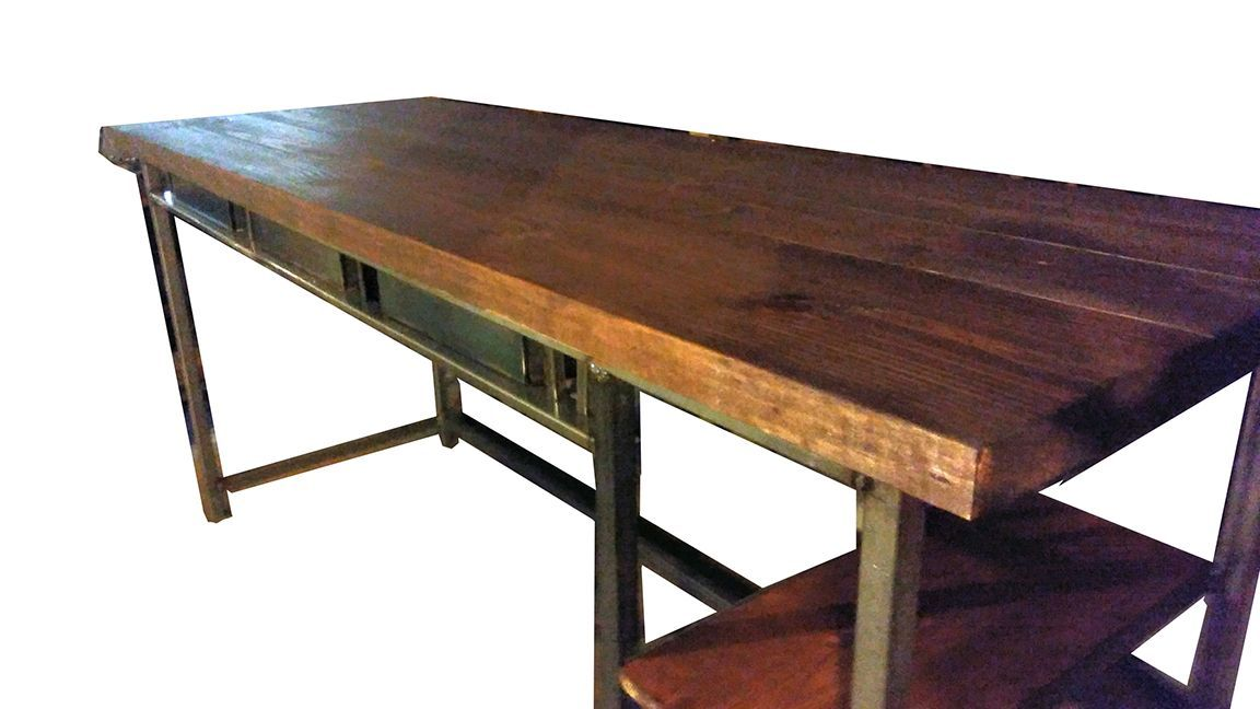 vintage style office furniture. Hand Made Vintage Industrial Style Desk W/ Drawers By Customs | CustomMade.com Office Furniture