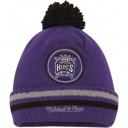 63c3f71e2aa NBA Sacramento Kings Mitchell   Ness Current Logo Big Man High Five Cuffed  Knit Hat - Purple  LandscapingIdeasAndTips