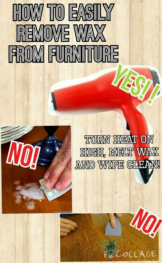 Safely Remove Candle Wax Furniture, How To Remove Wax From Furniture