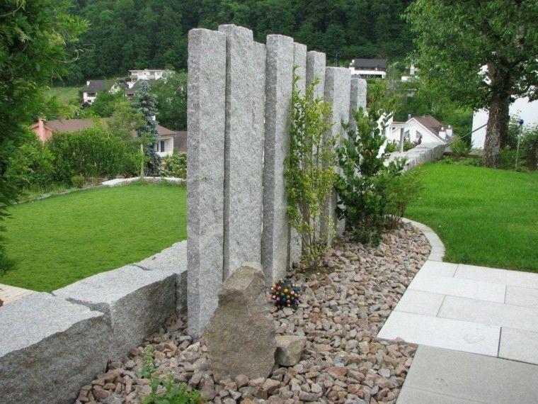 Muros en el jard n 75 ideas que te encantar n casa - Muros de jardin ...