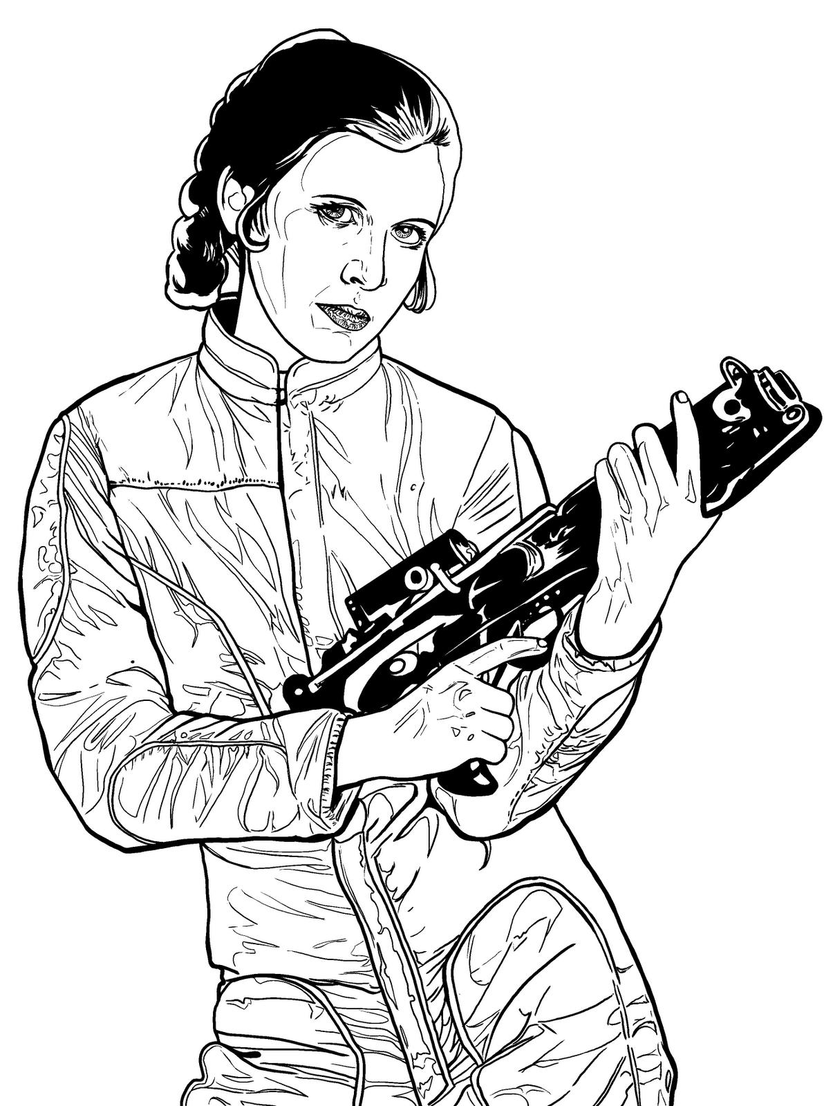 Princess Leia Armed And Dangerous Wacom Intuos Ii Krita 2 5 Git